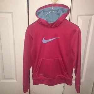 Girls pink nike hoodie